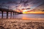 Manhattan Beach Pier in California - Los Angeles, USA.