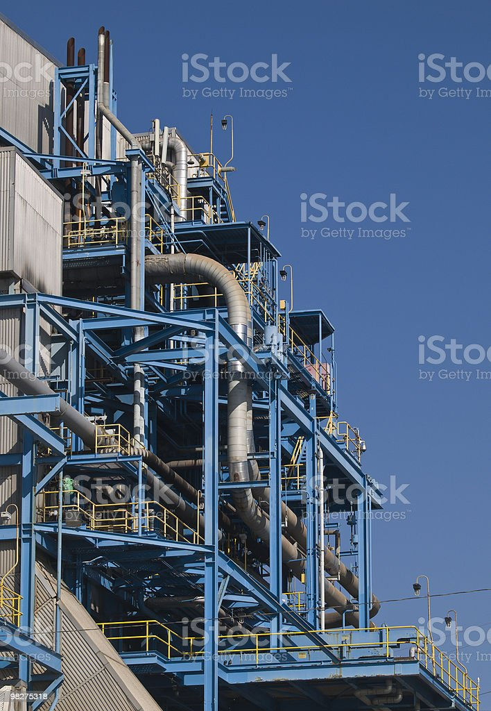 manhattan beach power plant close up royalty-free stock photo