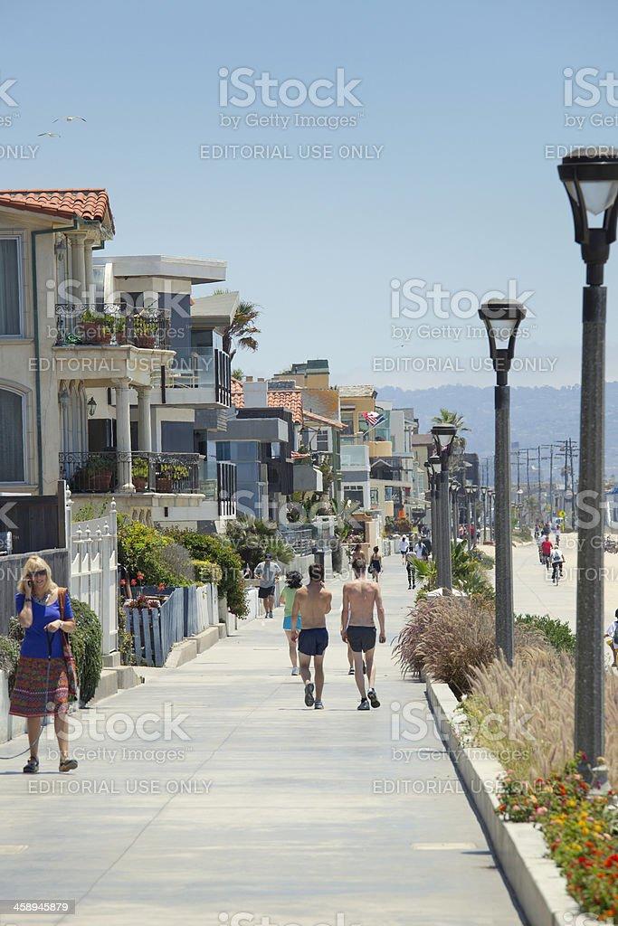 Manhattan Beach Promenade Stock Photo & More Pictures Of