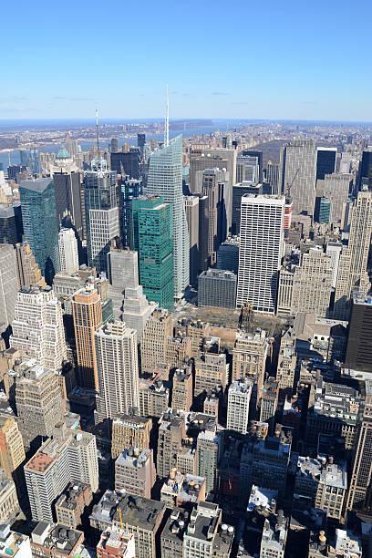 Manhattan Blocks stock photo