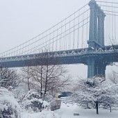 Manhattan Bridge after a Snow Storm
