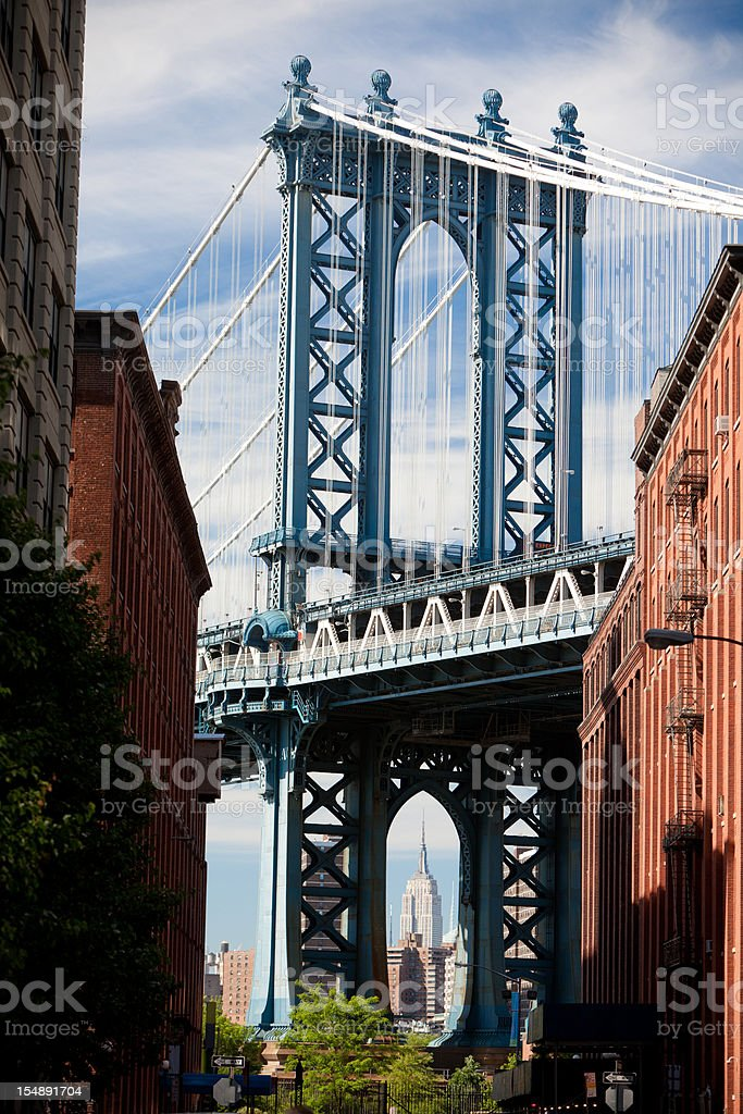 Manhattan bridge classic view royalty-free stock photo