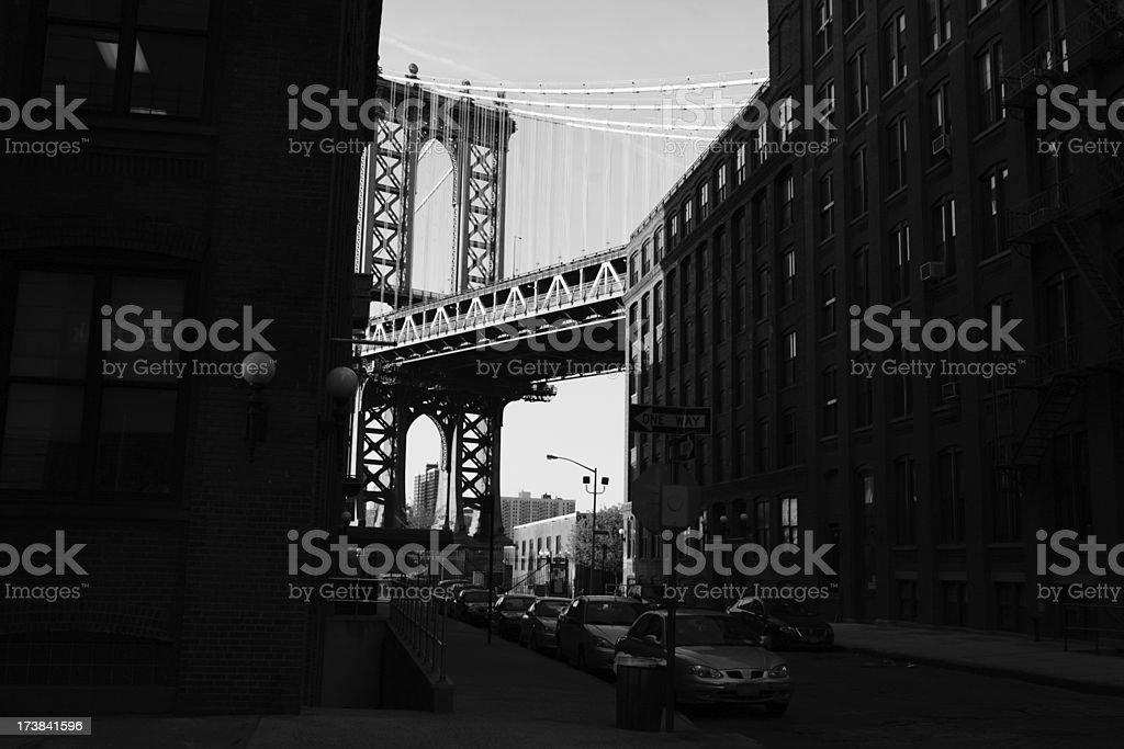 Manhattan Bridge DUMBO Backstreet royalty-free stock photo