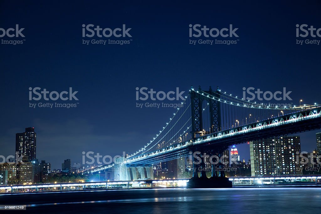 Manhattan Bridge in New York City stock photo