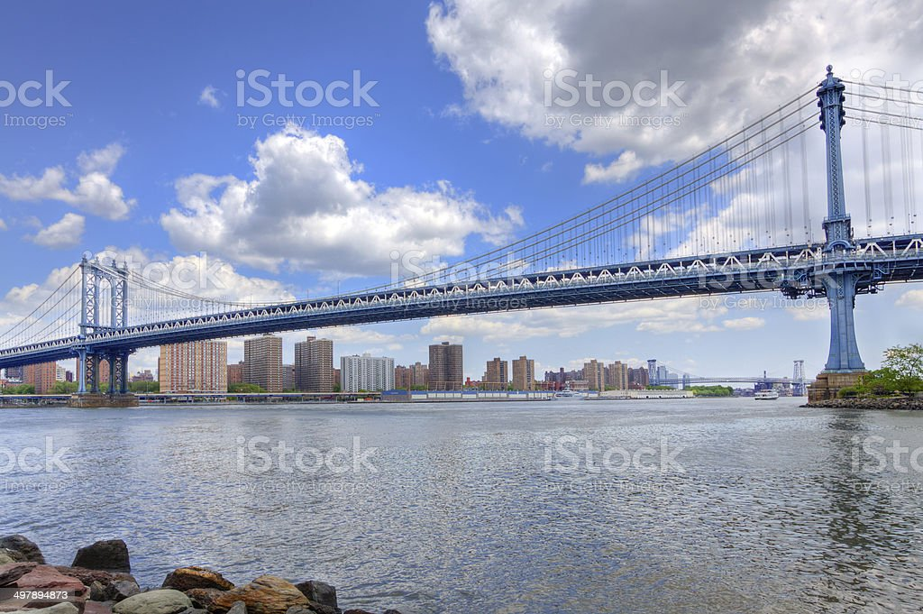 Manhattan Bridge, New York City. royalty-free stock photo