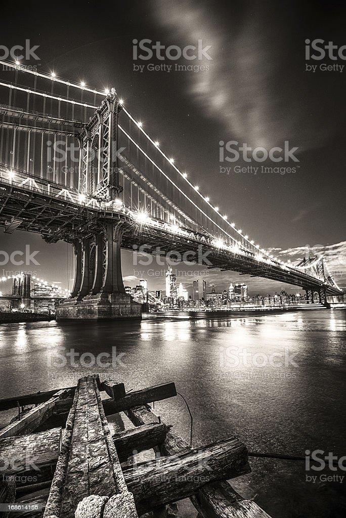 Manhattan Bridge New York royalty-free stock photo
