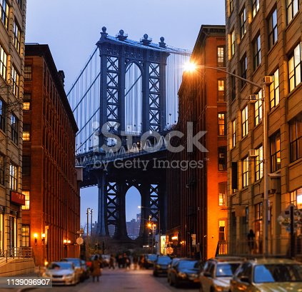 624265498 istock photo Manhattan Bridge, NYC - Dumbo Famous View 1139096907