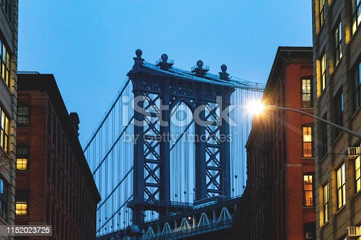 624265498 istock photo Manhattan Bridge, NYC - Dumbo Famous View 1152023725
