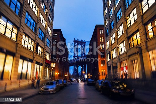 624265498 istock photo Manhattan Bridge, NYC - Dumbo Famous View 1152031665