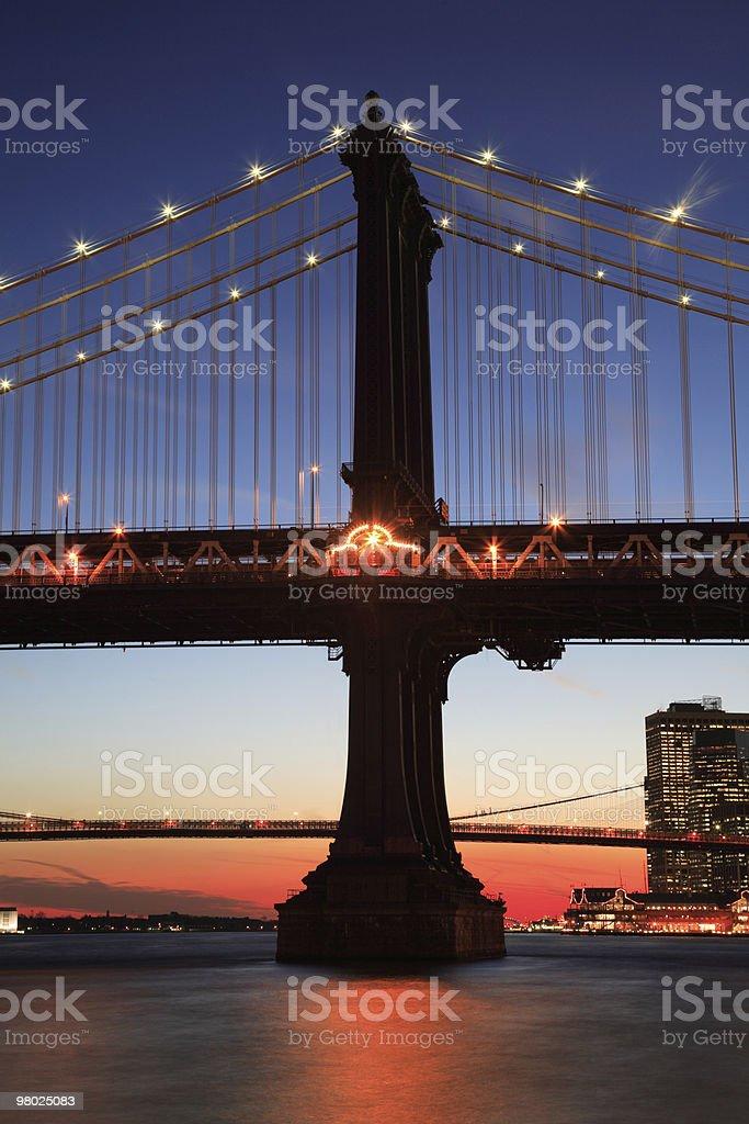 Manhattan Bridge, NYC royalty-free stock photo