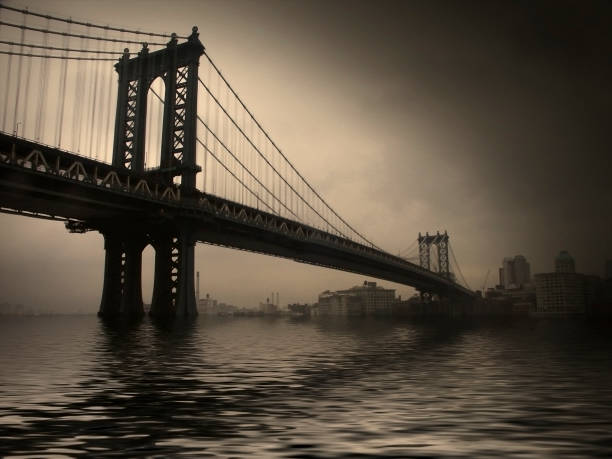 nyc manhattan bridge - lower east side manhattan stock pictures, royalty-free photos & images