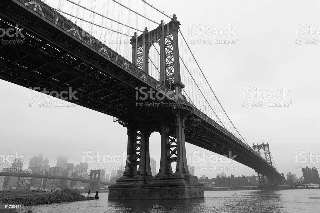 Manhattan Bridge royalty-free stock photo