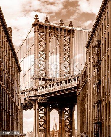 istock Manhattan Bridge seen from Brooklyn Backstreet 543212126