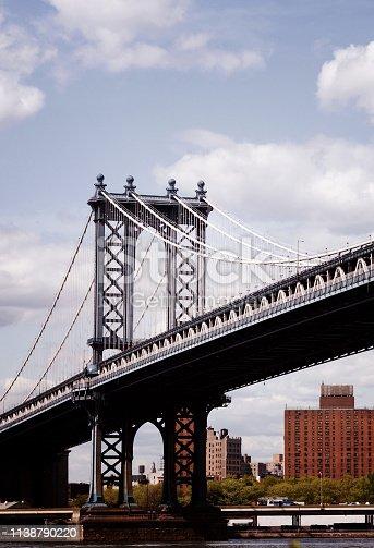 Manhattan Bridge seen from Dumbo, NYC.