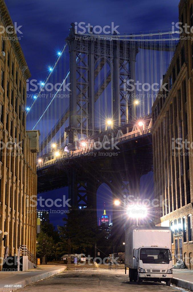 Manhattan Bridge Skyline royalty-free stock photo