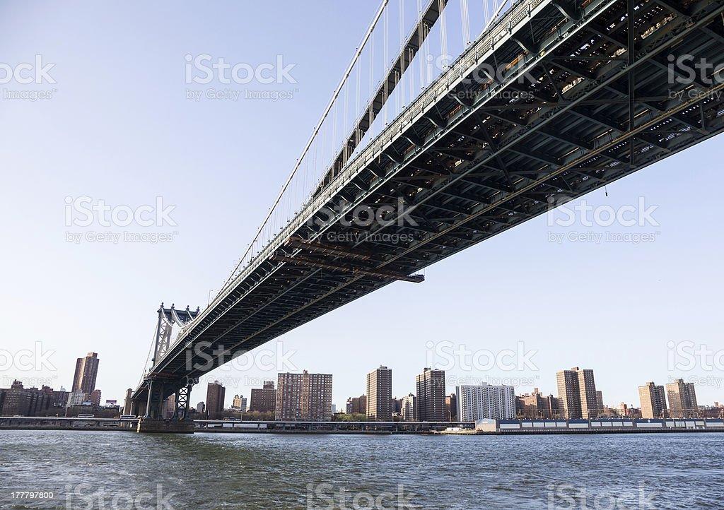 Manhattan Bridge towards midtown New York royalty-free stock photo
