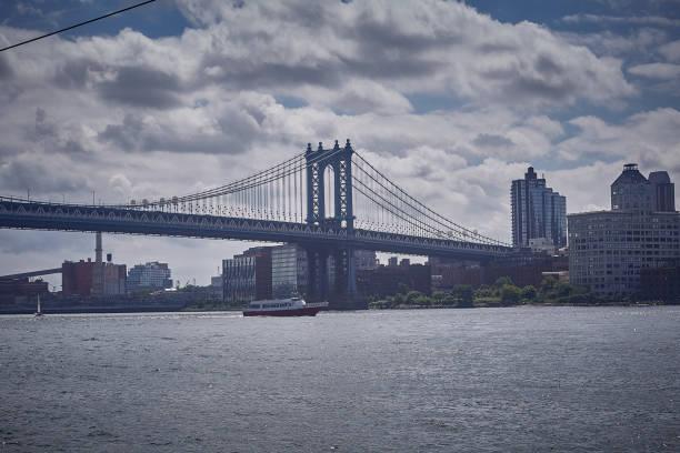 Manhattan bridge view stock photo