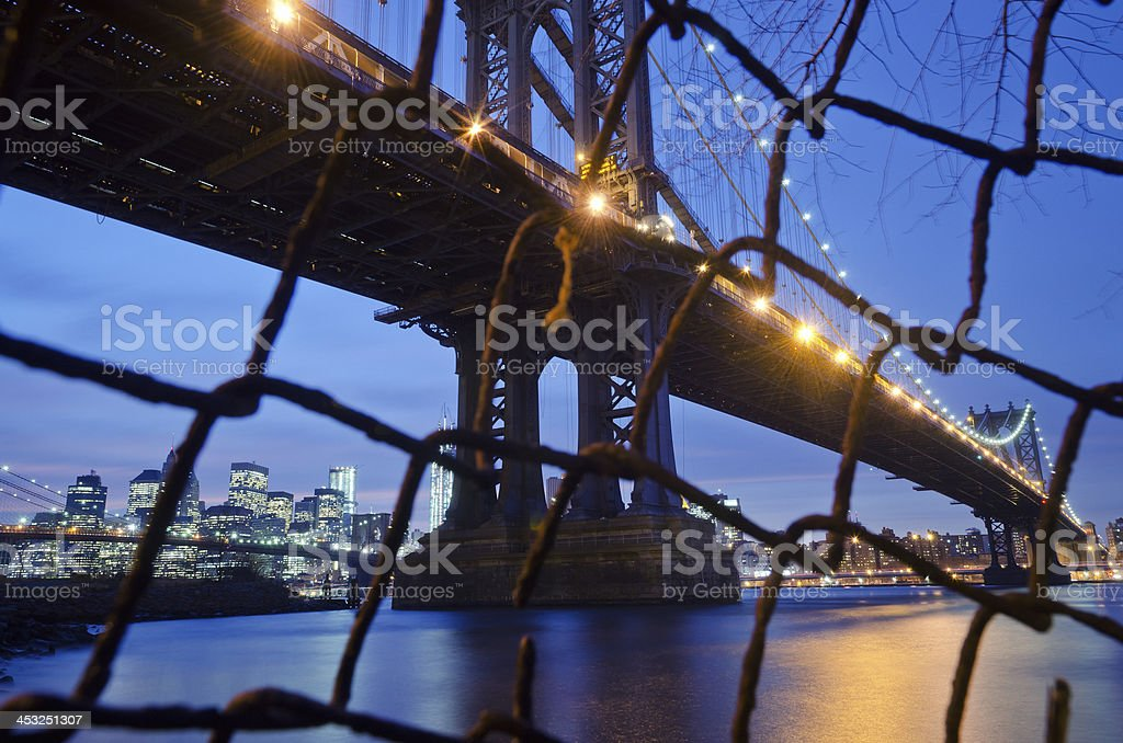 Manhattan bridge,NY royalty-free stock photo