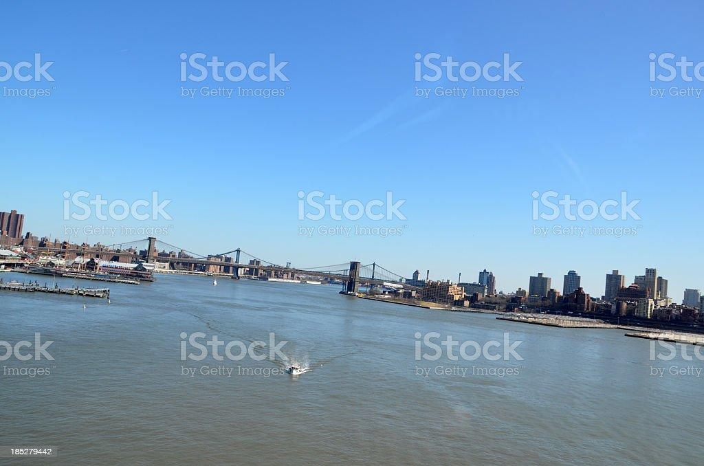 Manhattan - Brooklyn Bridges stock photo