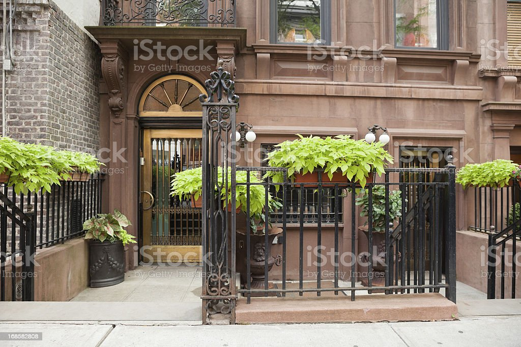 Manhattan Brownstone stock photo