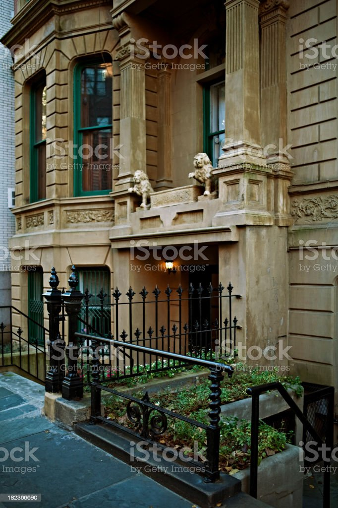 Manhattan Brownstone royalty-free stock photo