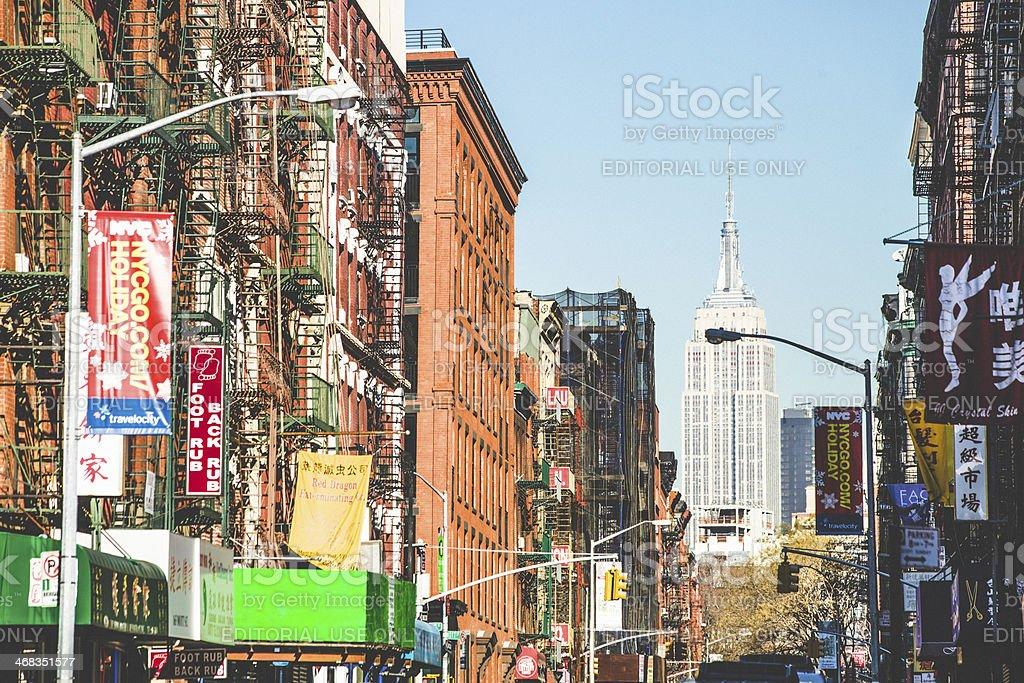 Manhattan buildings. royalty-free stock photo