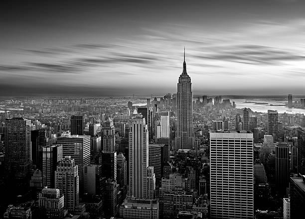 マンハッタン b &w - 都市 モノクロ ストックフォトと画像