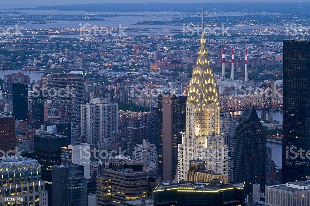 Manhattan by Night stock photo