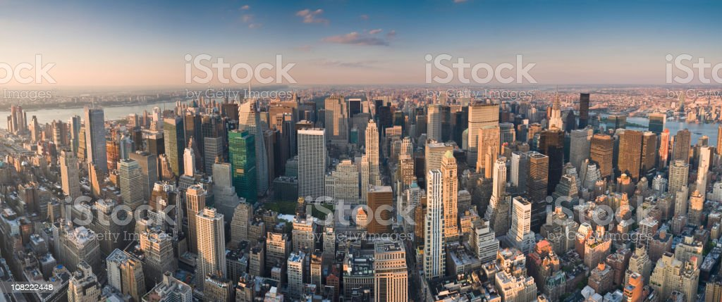Manhattan citadels maximum city stock photo