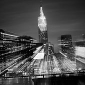 Manhattan cityscape abstract lights