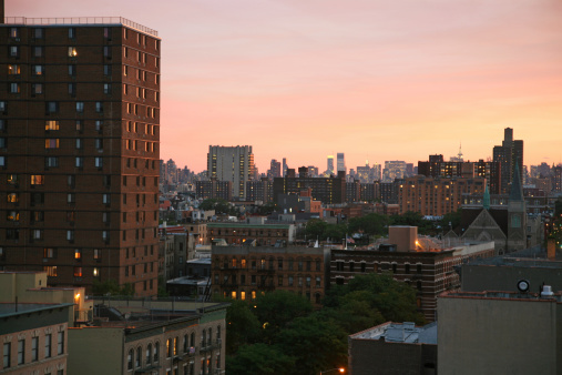 Manhattan Cityscape At Dusk Stock Photo - Download Image Now