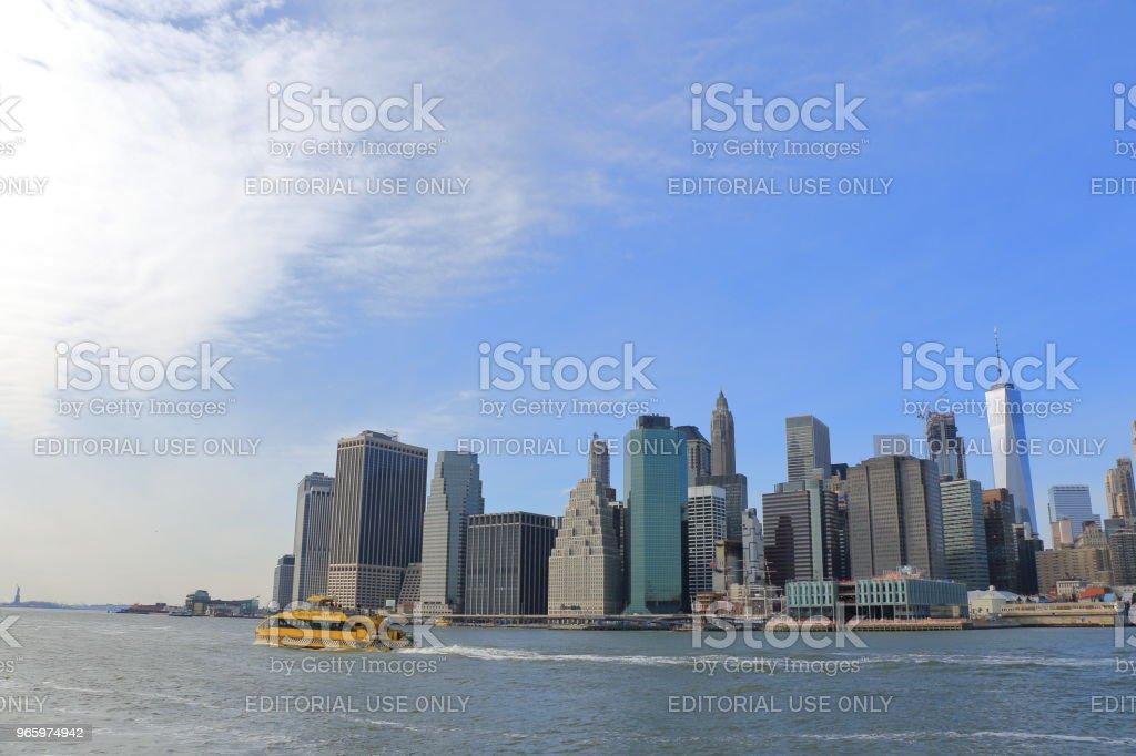 Manhattan Stadtbild - Lizenzfrei Brücke Stock-Foto