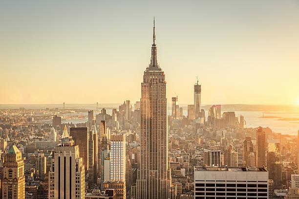Manhattan Cityscape,Sunset Skyline