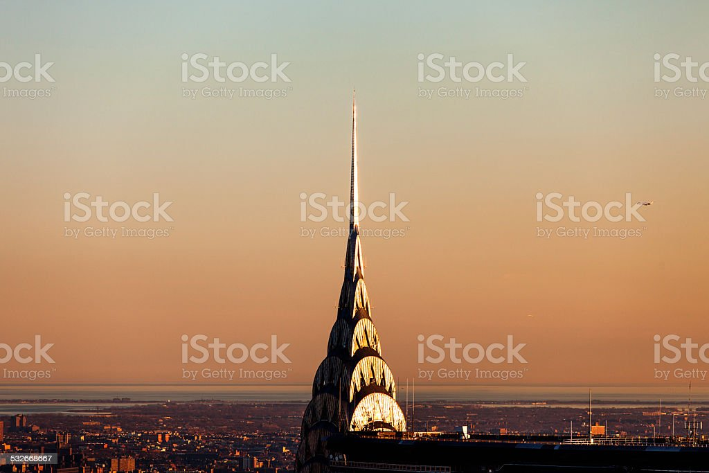 Manhattan Cityscape,Sunset Skyline stock photo