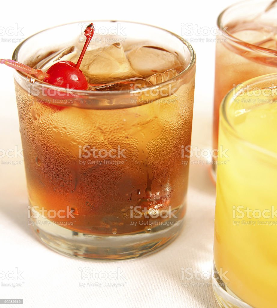 Manhattan Cocktail On The Rock royalty-free stock photo