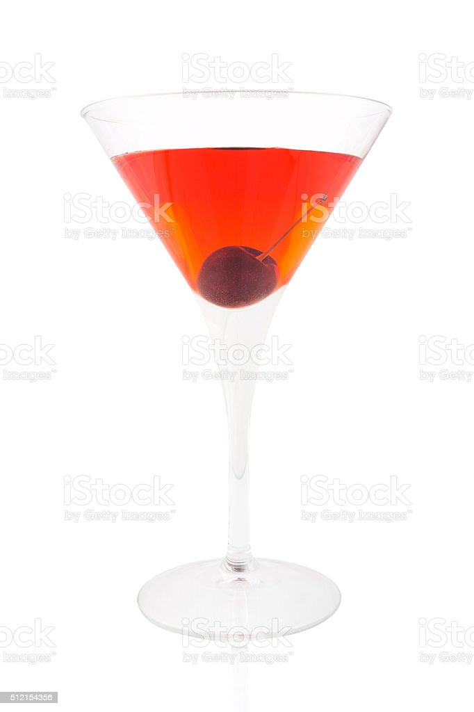 Manhattan cocktail stock photo