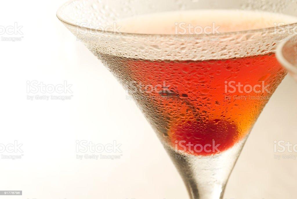 Manhattan cocktail royalty-free stock photo