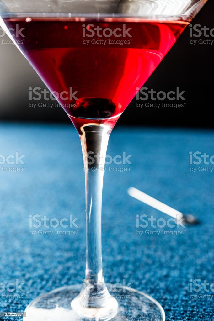 Manhattan Cocktail With A Cherry Garnish Stock Photo Download Image Now Istock