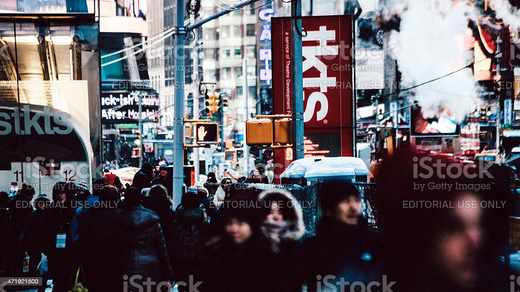 Manhattan crowds. stock photo