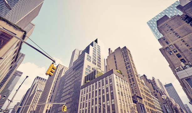 Manhattan diverse architecture, New York City, USA. stock photo