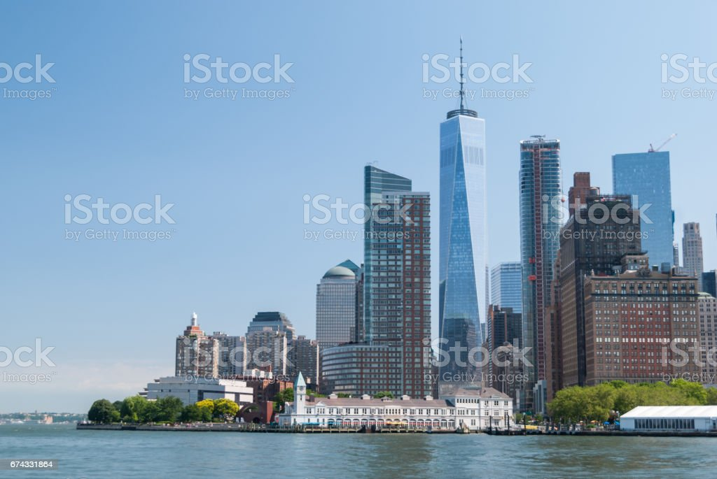 Manhattan downtown close up royalty-free stock photo