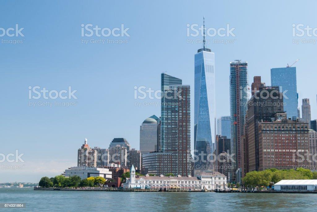 Manhattan downtown close up stock photo