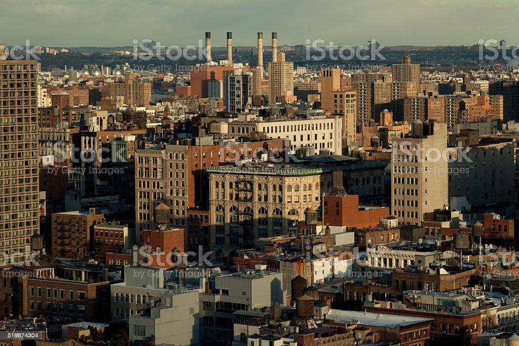Manhattan East Village Views stock photo
