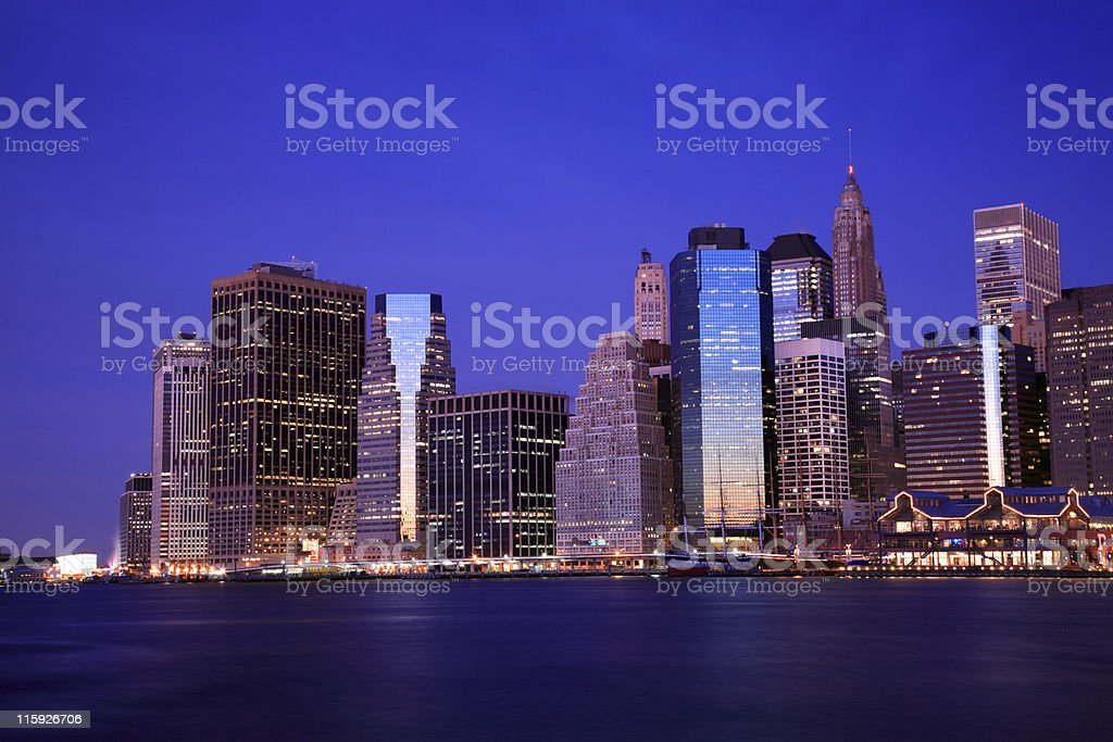 Manhattan Financial District, New York royalty-free stock photo