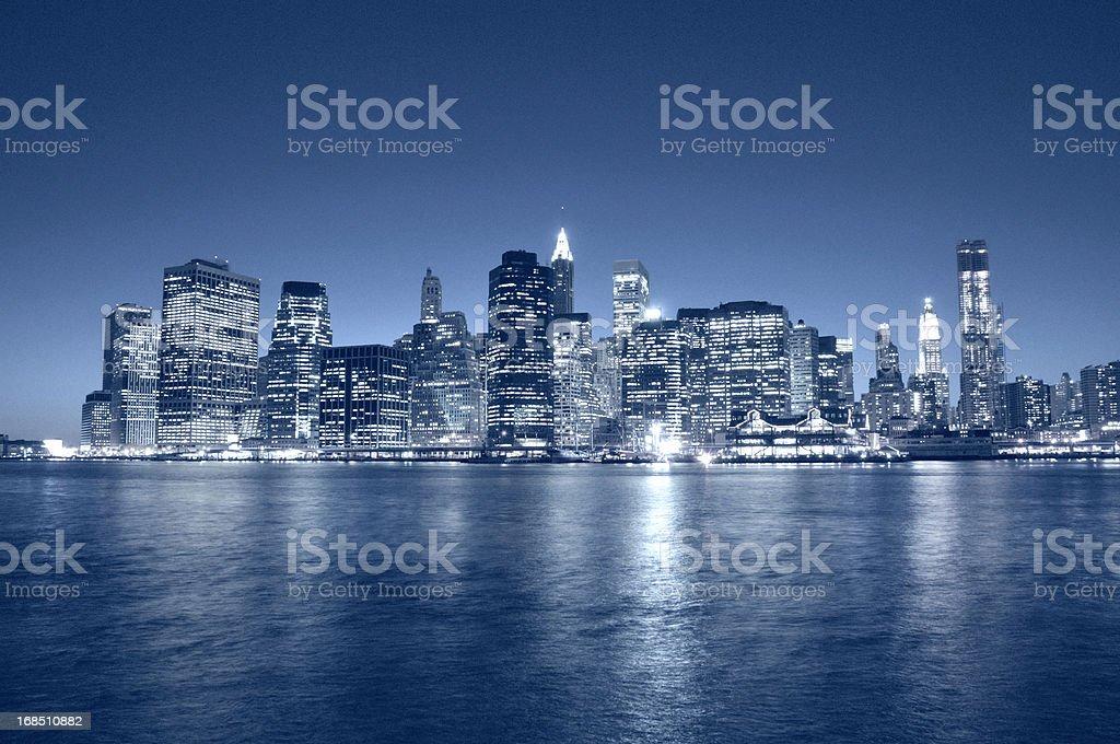 Manhattan Financial District Skyline NYC royalty-free stock photo