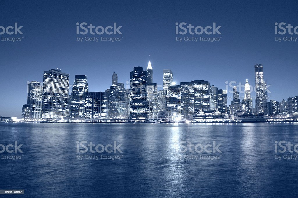 Manhattan Financial District Skyline NYC stock photo