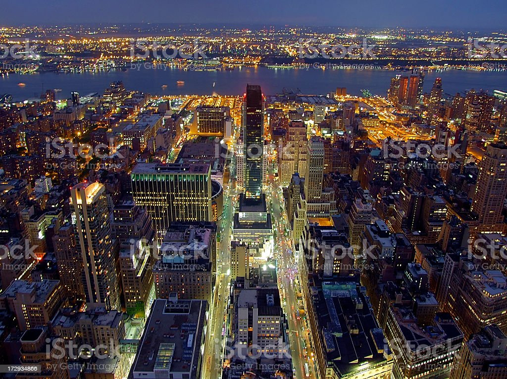 Manhattan from above stock photo