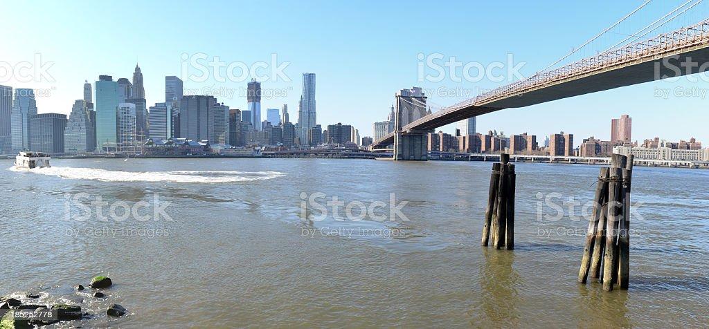Manhattan from Brooklyn stock photo