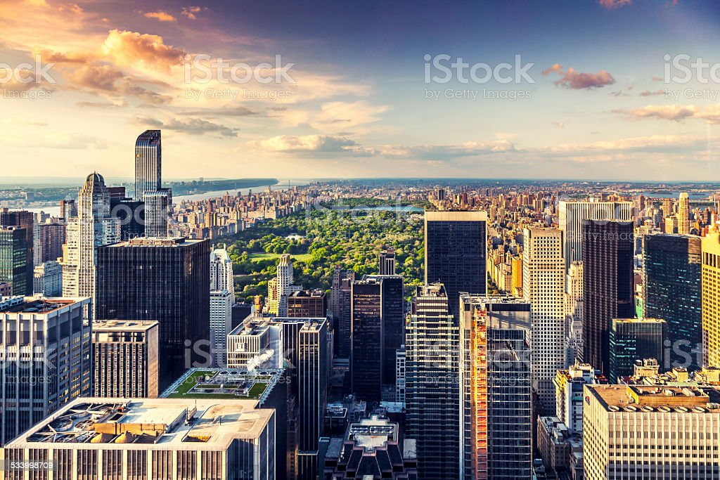 Manhattan from the top stock photo