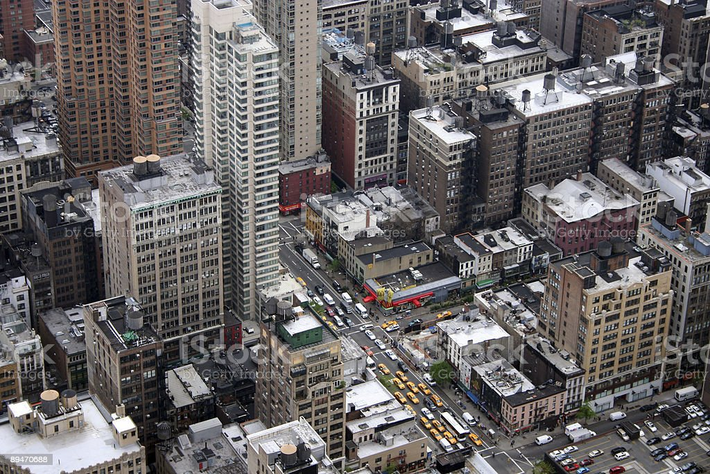 Manhattan from the top royalty-free stock photo